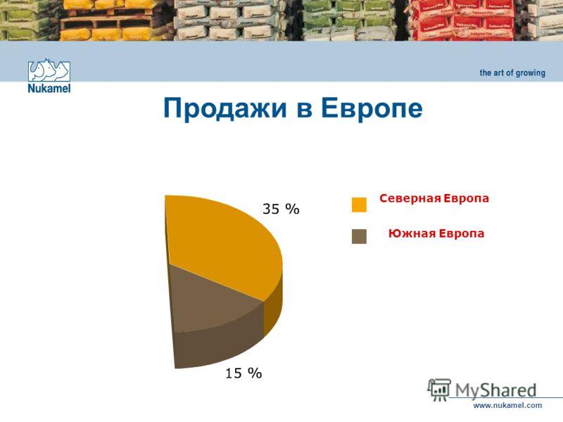 www.nukamel.com Продажи в Европе Северная Европа Южная Европа