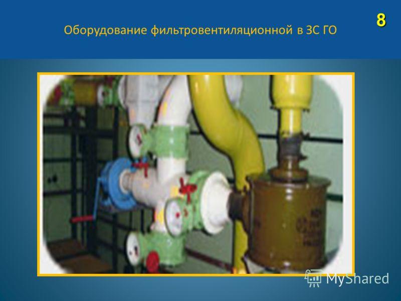 Оборудование фильтровентиляционной в ЗС ГО8