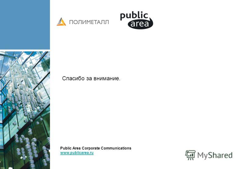 Спасибо за внимание. Public Area Corporate Communications www.publicarea.ru www.publicarea.ru
