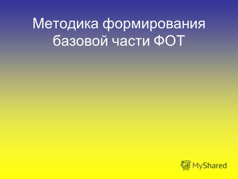 Методика формирования базовой части ФОТ