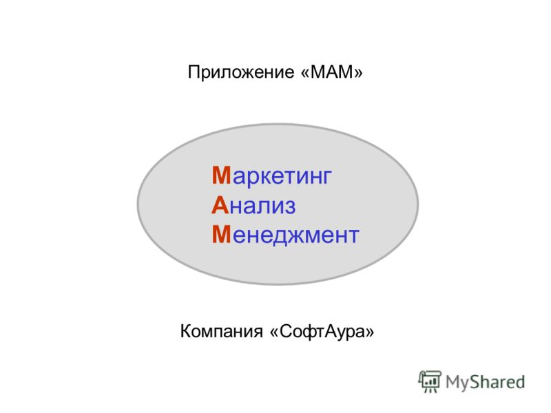 Приложение «МАМ» Маркетинг Анализ Менеджмент Компания «СофтАура»