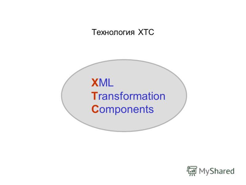 Технология XTC XML Transformation Components