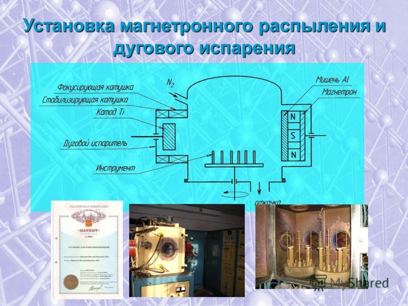Установка магнетронного распыления и дугового испарения