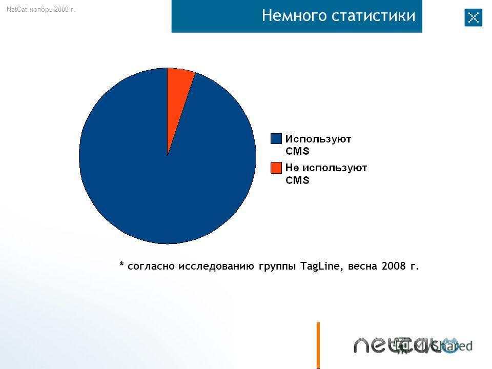 NetCat ноябрь 2008 г. Немного статистики * согласно исследованию группы TagLine, весна 2008 г.