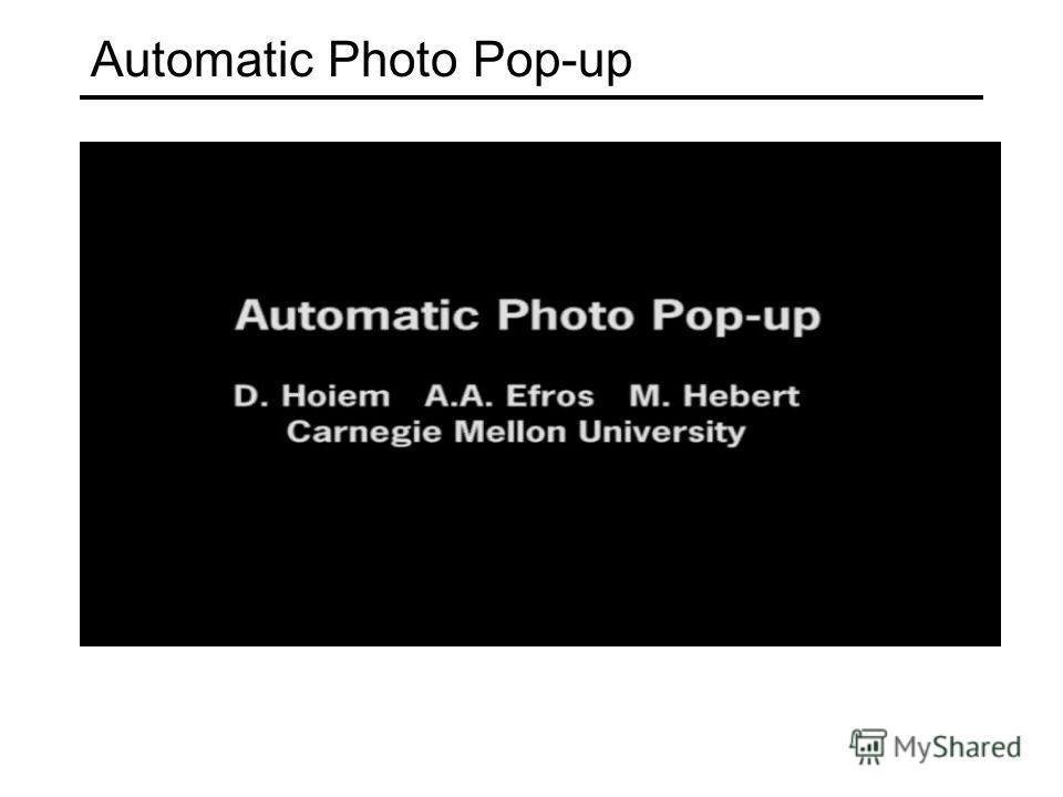 Automatic Photo Pop-up