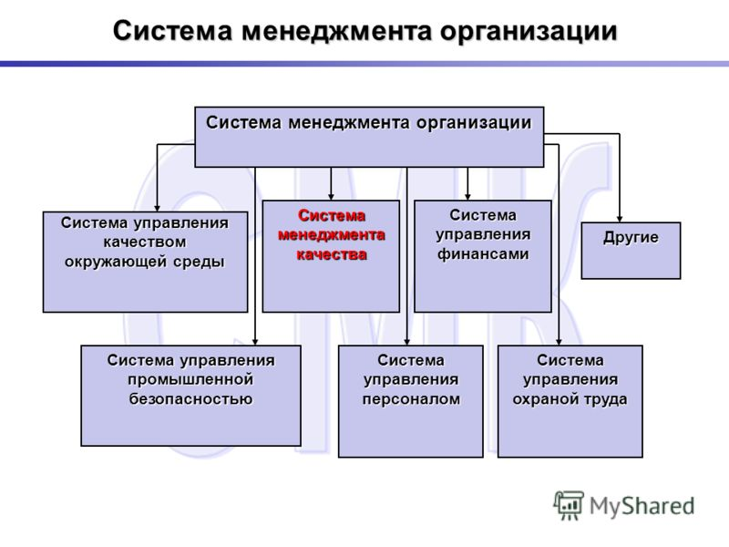 Система менеджмента организации Система управления качеством окружающей среды Система менеджмента качества Система управления финансами Другие Система управления промышленной безопасностью Система управления персоналом Система управления охраной труд
