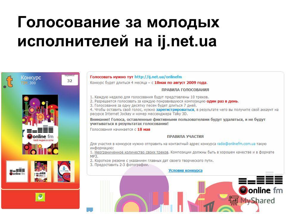 Голосование за молодых исполнителей на ij.net.ua