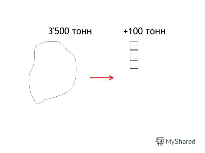 3'500 тонн+100 тонн