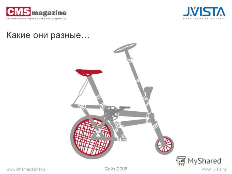 Какие они разные… Сайт-2009 www.j-vista.ruwww.cmsmagazine.ru