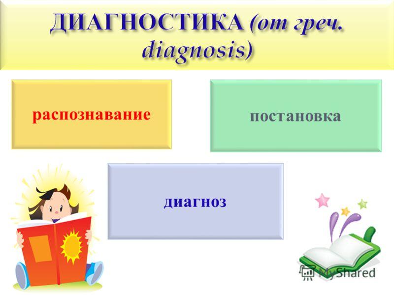 распознавание постановка диагноз