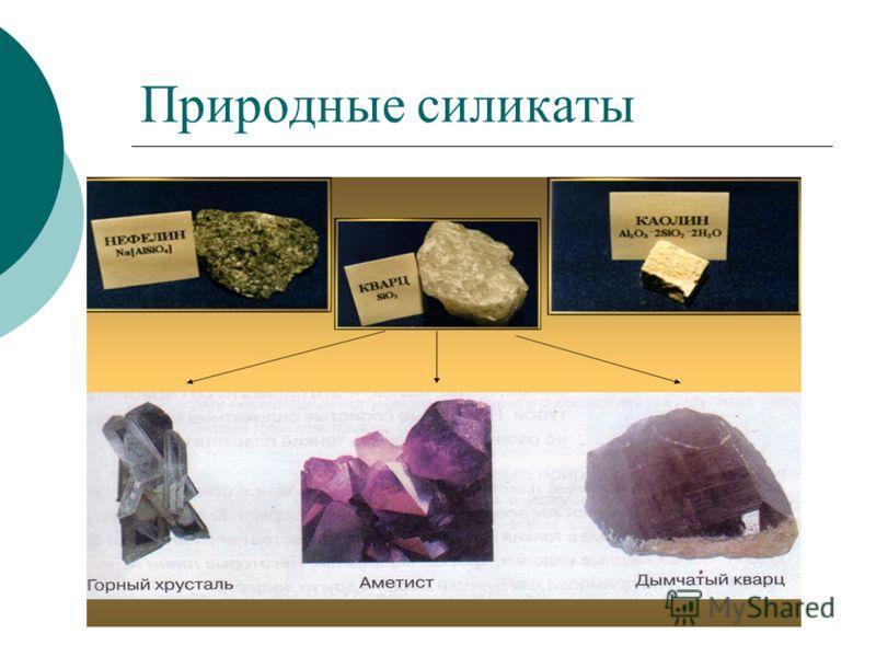 Природные силикаты