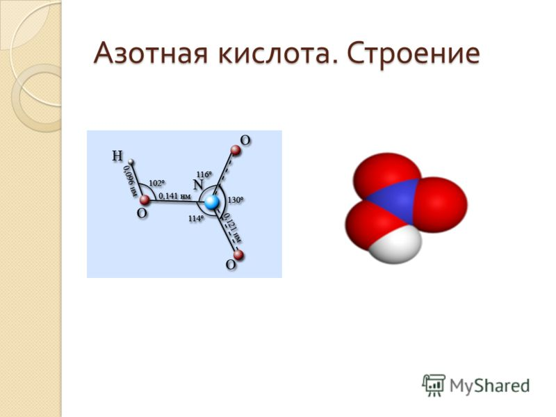 Азотная кислота. Строение