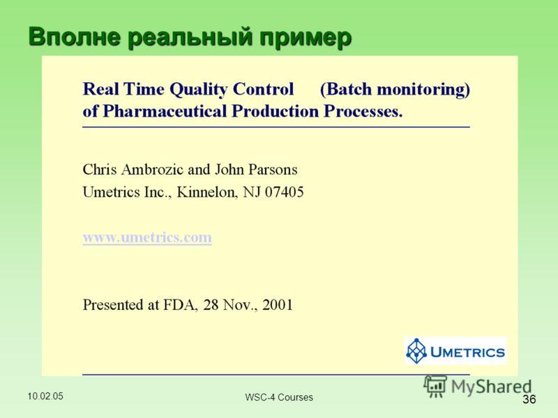 10.02.05 36 WSC-4 Courses Вполне реальный пример