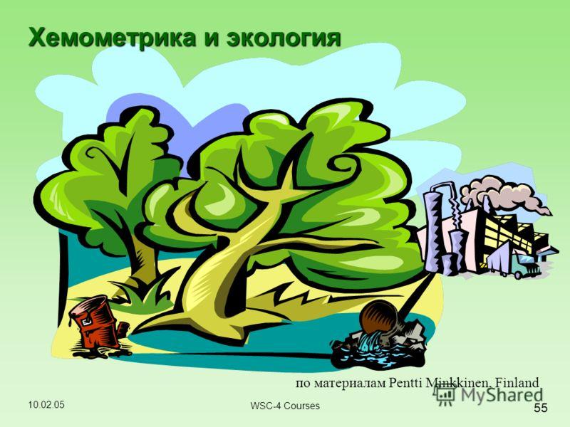 10.02.05 55 WSC-4 Courses Хемометрика и экология по материалам Pentti Minkkinen, Finland