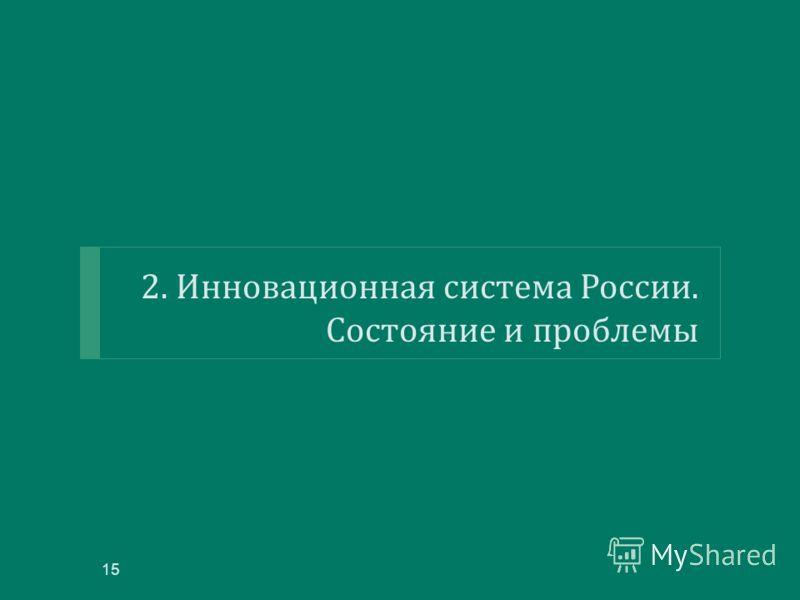 2. Инновационная система России. Состояние и проблемы 15
