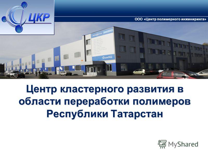 Центр кластерного развития в области переработки полимеров Республики Татарстан ООО «Центр полимерного инжиниринга»