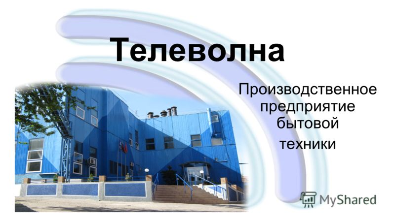 Телеволна Производственное предприятие бытовой техники