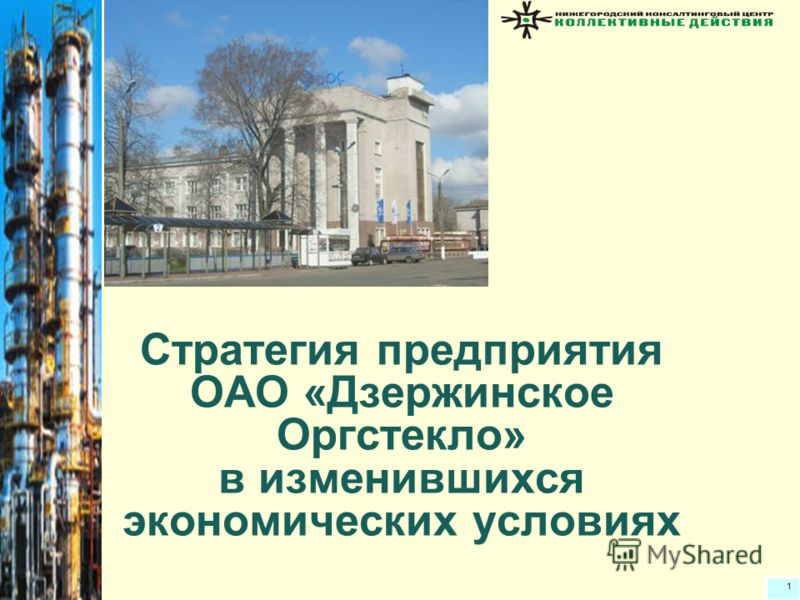 1 Cтратегия предприятия ОАО «Дзержинское Оргстекло» в изменившихся экономических условиях