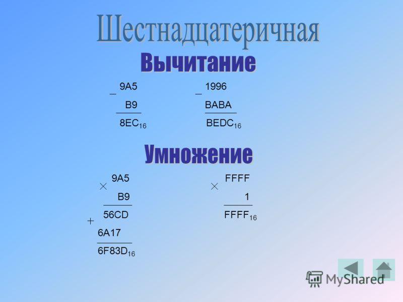 9A5 1996 B9 BABA 8EC 16 BEDC 16 9A5 FFFF B9 1 56CD FFFF 16 6A17 6F83D 16