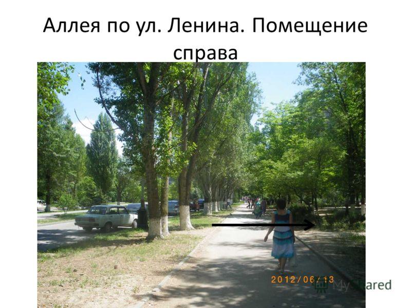 Аллея по ул. Ленина. Помещение справа