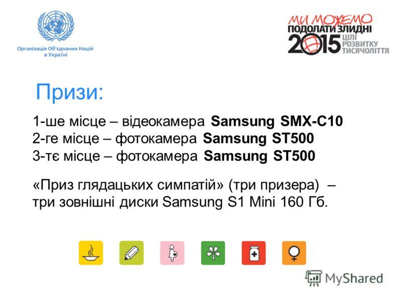 Призи: 1-ше місце – відеокамера Samsung SMX-C10 2-ге місце – фотокамера Samsung ST500 3-тє місце – фотокамера Samsung ST500 «Приз глядацьких симпатій» (три призера) – три зовнішні диски Samsung S1 Mini 160 Гб.