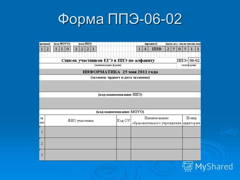 Форма ППЭ-06-02