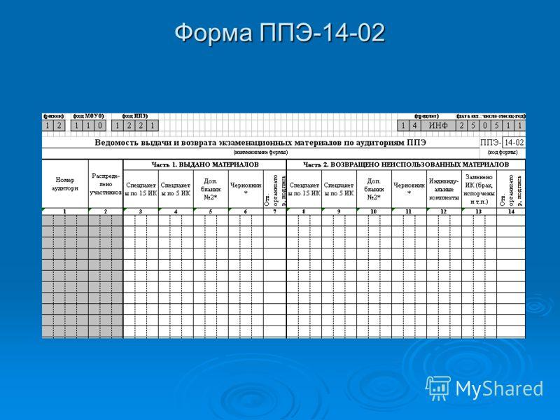 Форма ППЭ-14-02