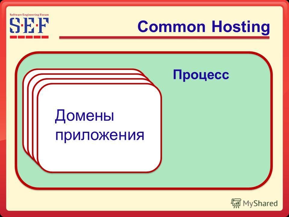 Common Hosting Процесс Домены приложения