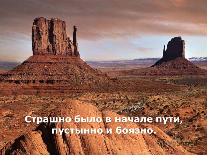 Страшно было в начале пути, пустынно и боязно.