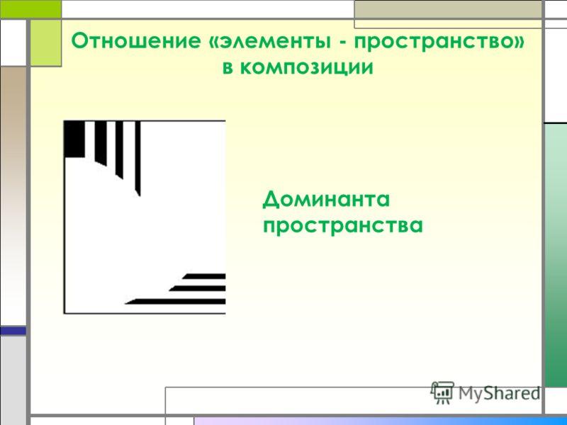 Отношение «элементы - пространство» в композиции Доминанта пространства
