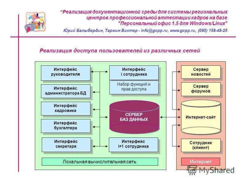 Реализация документационной среды для системы региональных центров профессиональной аттестации кадров на базе