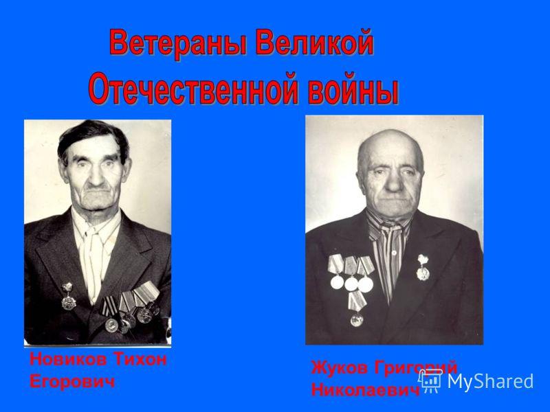 Новиков Тихон Егорович Жуков Григорий Николаевич