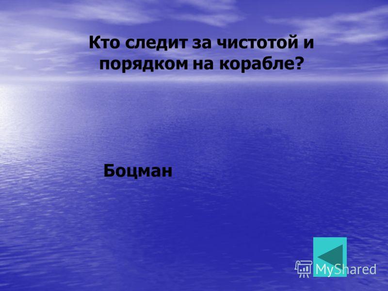 Кто следит за чистотой и порядком на корабле? Боцман