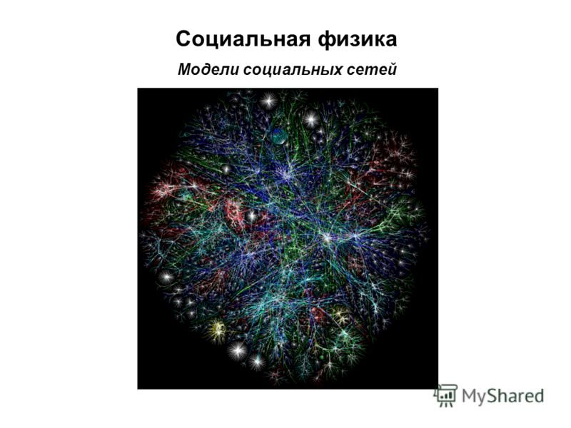 Социальная физика Модели социальных сетей