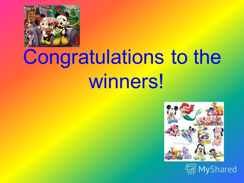 Congratulations to the winners!