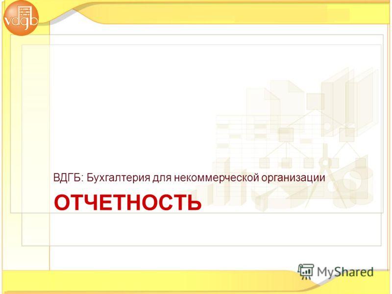 ОТЧЕТНОСТЬ ВДГБ: Бухгалтерия для некоммерческой организации