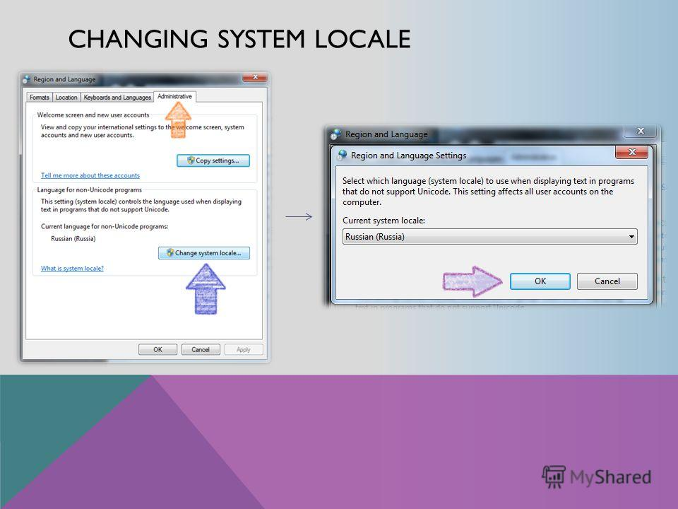 CHANGING SYSTEM LOCALE