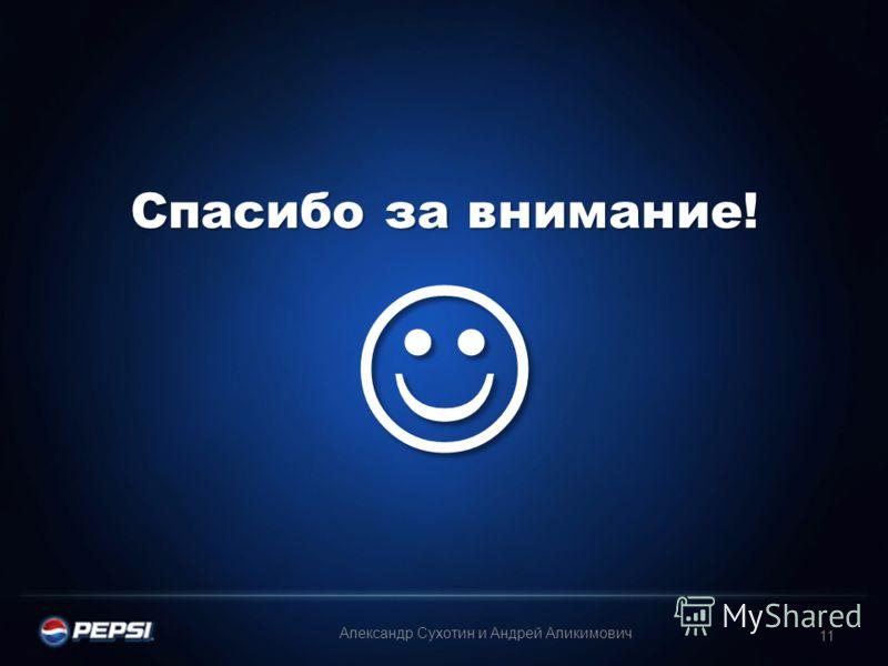 Спасибо за внимание! Спасибо за внимание! 11 Александр Сухотин и Андрей Аликимович