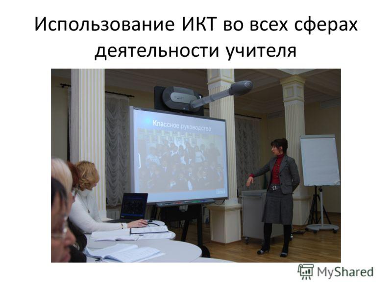 Использование ИКТ во всех сферах деятельности учителя