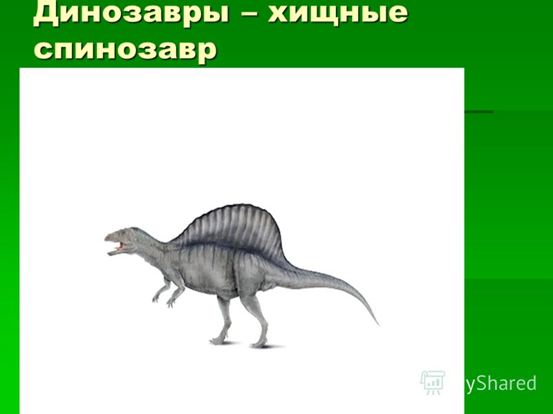 Динозавры – хищные спинозавр