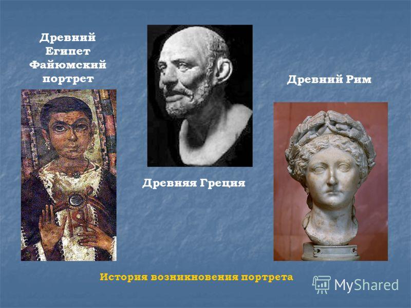 Древний Египет Файюмский портрет Древняя Греция Древний Рим История возникновения портрета