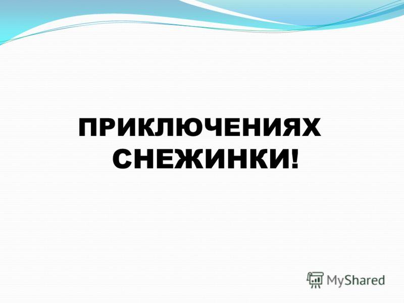 ПРИКЛЮЧЕНИЯХ СНЕЖИНКИ!