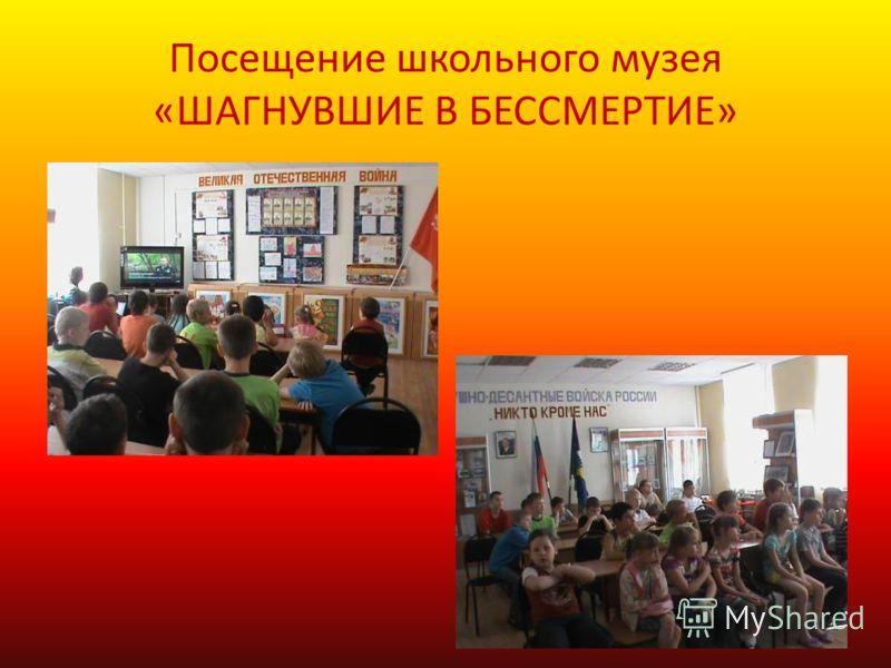 Посещение школьного музея «ШАГНУВШИЕ В БЕССМЕРТИЕ»