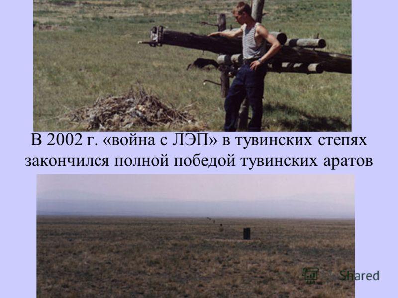 В 2002 г. «война с ЛЭП» в тувинских степях закончился полной победой тувинских аратов