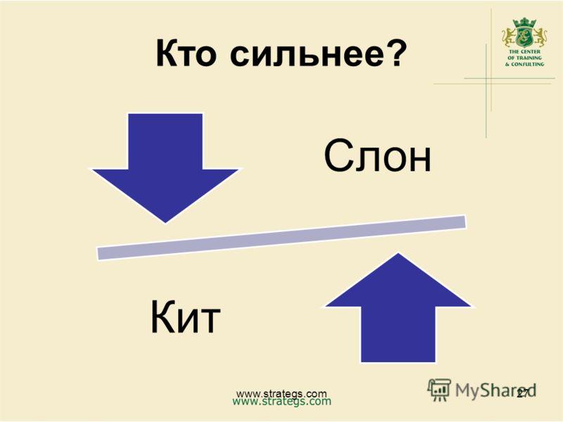 Кто сильнее? Слон Кит www.strategs.com27