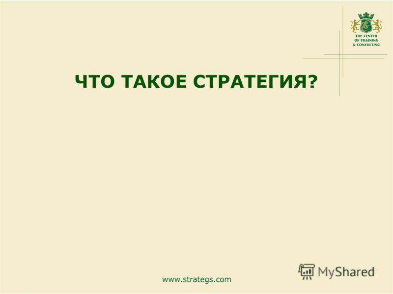 www.strategs.com5 ЧТО ТАКОЕ СТРАТЕГИЯ?