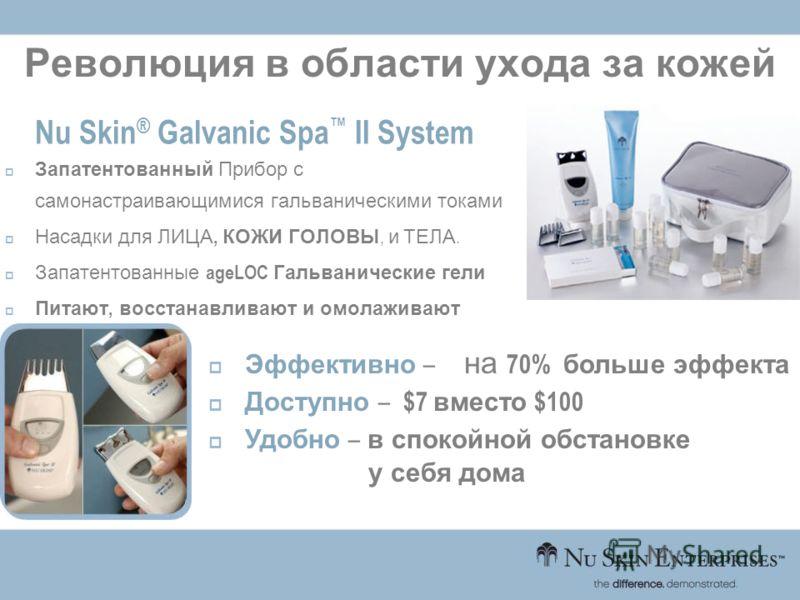 Революция в области ухода за кожей Nu Skin ® Galvanic Spa II System Запатентованный Прибор с самонастраивающимися гальваническими токами Насадки для ЛИЦА, КОЖИ ГОЛОВЫ, и ТЕЛА. Запатентованные ageLOC Гальванические гели Питают, восстанавливают и омола