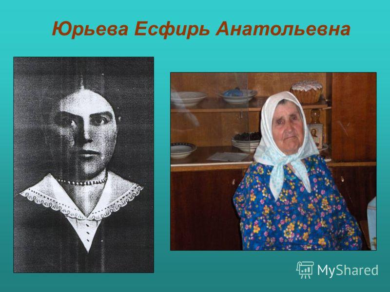 Юрьева Есфирь Анатольевна