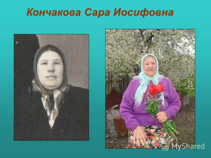 Кончакова Сара Иосифовна