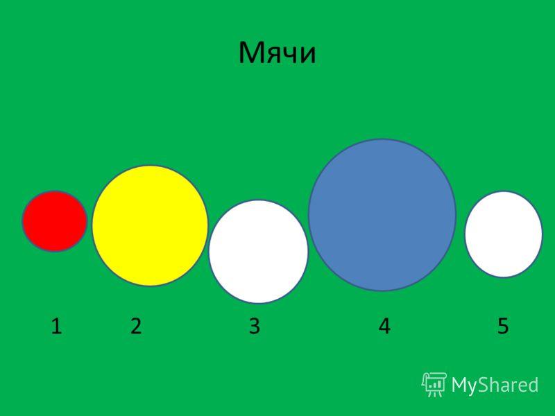 Мячи 1 2 3 4 5